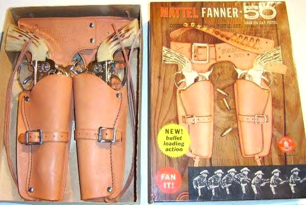 Mattel-Fanner-50-leather-holster-set