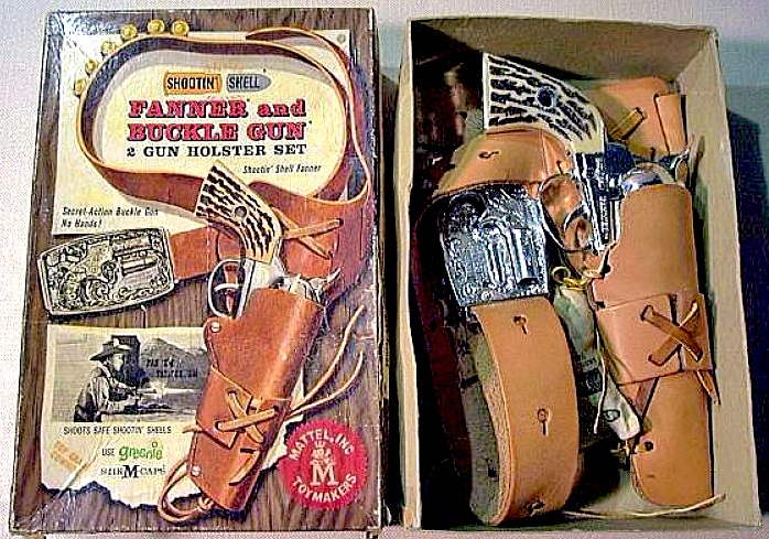 Mattel-Fanner-50-western-toy-cap-gun-in-box